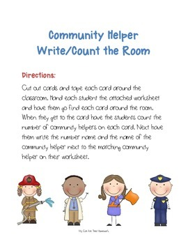 Community Helper Write/Count the Room