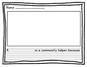 Community Helper Writing Activity