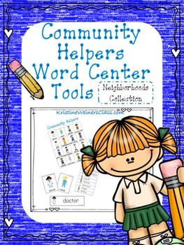 Community Helpers Writing Center Tools: Neighborhood Words