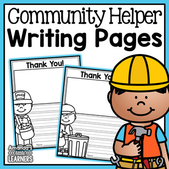 Community Helper Writing Pages - Thank You Notes