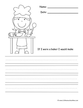 community helper writing prompts kindergarten 1st grade by beth gorden. Black Bedroom Furniture Sets. Home Design Ideas