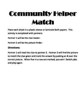 Community Helper match