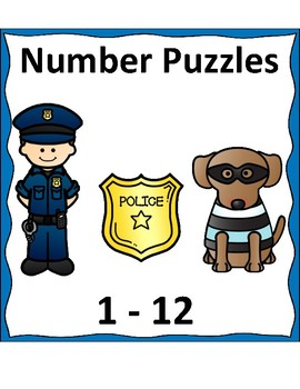 Community Helper (police) Number Puzzles 1-12