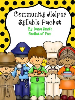 Community Helper's Syllable Packet