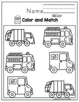 "Community Helper's Vehicles ""No Prep"""