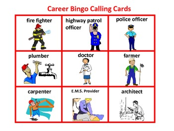 Community Helper/careerBingo