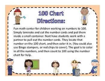 Community Helpers 100 Chart Math Center