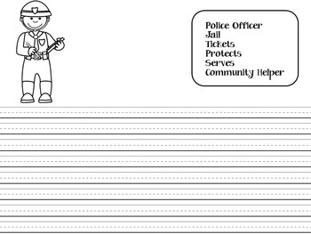 Community Helpers Activity | Community | Community Helpers Writing