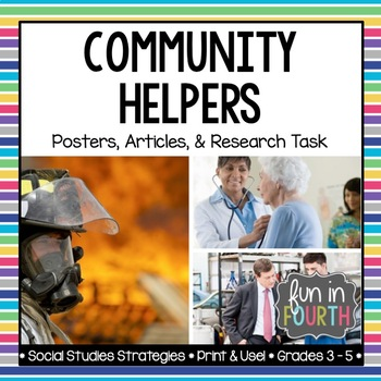 Community Helpers Posters and Informational Articles