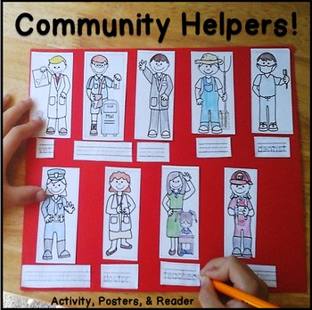 community helpers crafts for preschool kindergarten by peas in a pod