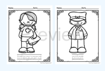 Community Helpers 2 Color and Trace