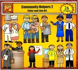 Community Helpers 2 - Jobs and Career Clip Art by Charlotte's Clips