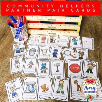 Community Helpers 2 Partner Pairing Cards