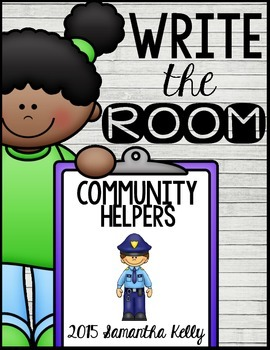 Community Helpers Write the Room Center