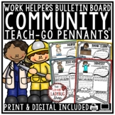 Community Helpers Worksheets & When I Grow Up Activity • Teach- Go Pennants™