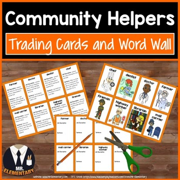 Community Helpers Trading Card Activities and Posters