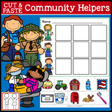 Community Helpers Cut and Paste