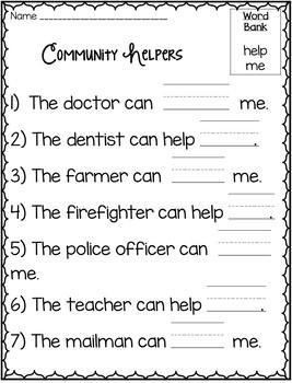 Community Helpers - An Emergent Reader