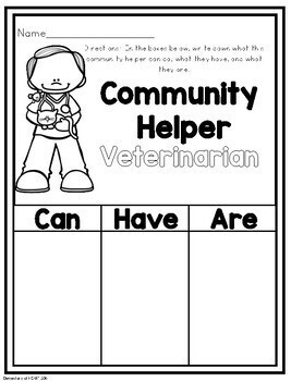 Community Helpers- A Mini Unit (Pre K- 1)