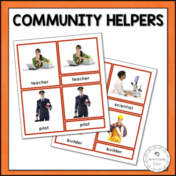 Community Helpers 3-Part Cards