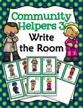 Community Helpers 3 Write the Room
