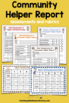Informational Writing Templates | Community Helpers | Community Activities