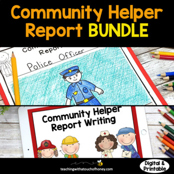 Community Helpers Research - Differentiated Report Writing Templates