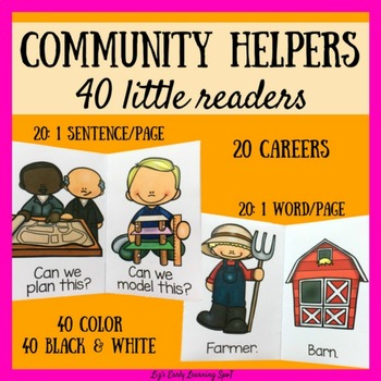 Community Helpers: 40 Little Readers with Sight Words