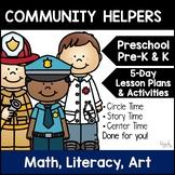 Community Helpers!  5-Day Lesson Plan for Preschool, Pre-K, & Homeschool