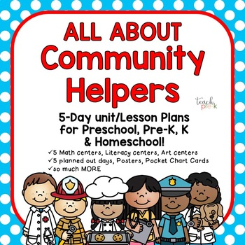 Community Helpers!  5-Day Lesson Plan for Preschool, Pre-K