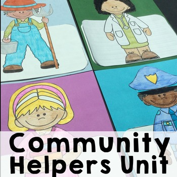 Community Helpers/Occupations Social Studies Unit with Craftivity