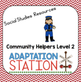Community Helpers Adapted Materials for Special Education Level 2-VAAP
