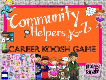 Community Helpers A-Z:  Career Koosh Ball SMARTboard Game