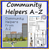 COMMUNITY HELPERS A to Z Rhyme Set