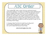Community Helpers: ABC Order Center {Freebie!}