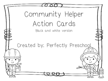 Community Helpers Action Cards