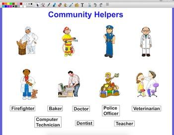 Community Helpers ActivInspire Matching Game Flipchart
