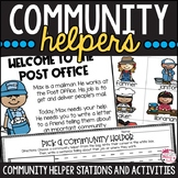 Community Helpers: Center Activities and Editable Stations