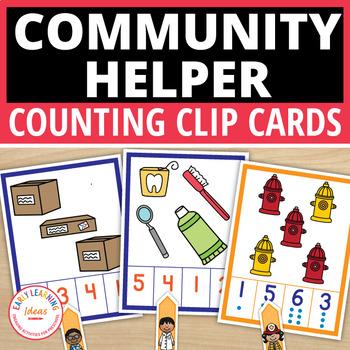 Community Helpers Activities for Preschool | Counting Clip ...