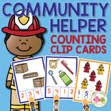 Community Helpers Activities for Preschool | Counting Clip Cards