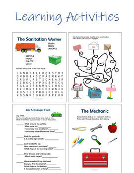 Community Helpers Unit - 89 Pages - Reading, Learning Activities, Crafts