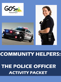 Community Helpers Activity Packet - The Police Officer {EDITABLE}