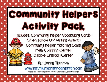 Community Helpers Activity Pack