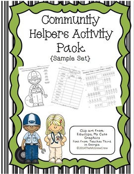 Community Helpers Activity Pack {Sample Set}