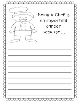 Community Helpers Activity Pack- Writing Prompts Posters and Coloring Sheets