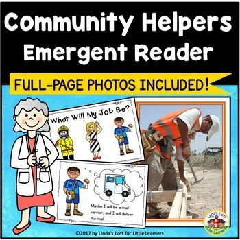 Community Helpers Emergent Reader and Photos