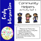 Special Education Community Helpers Activity Game  (Set 1)