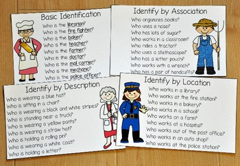 "Community Helpers Adapted Book--""Who Am I?"""