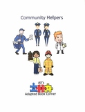 Community Helpers Adapted Book for Special Ed and Autism.