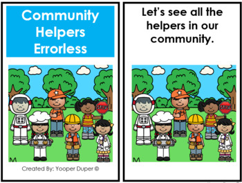 Community Helpers Adapted Books and Bingo Game Bundle